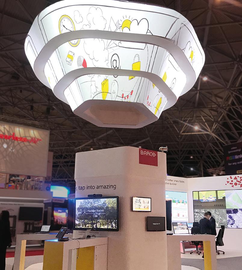 Об'ємний LED-екран на стенді Barco