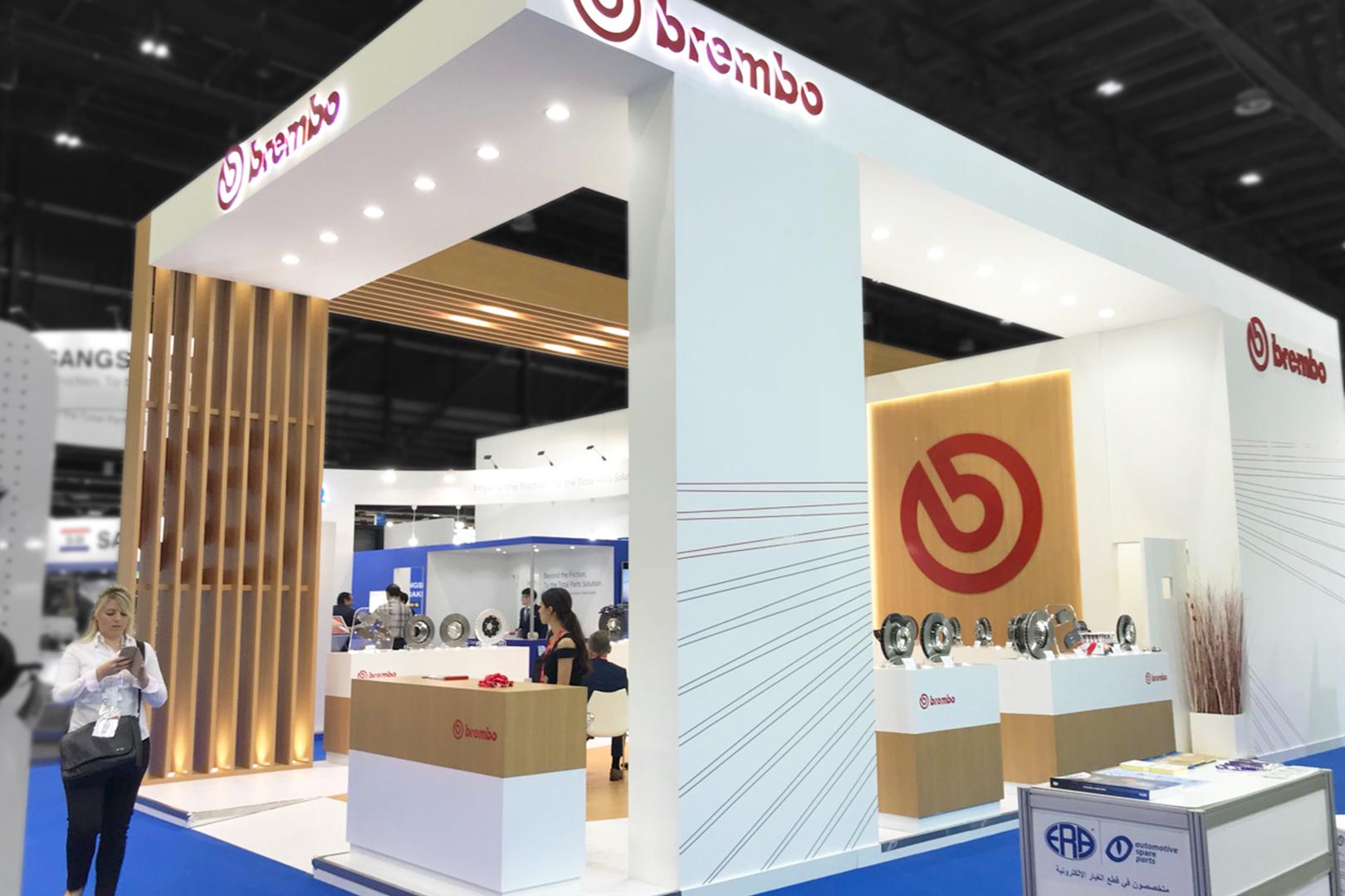 стенд компанії Brembo на виставці в ОАЕ