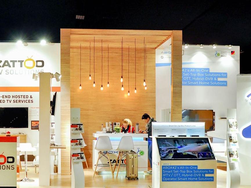 Стенд для німецької компанії ABOX i ZATTOO на виставці в Амстердамі