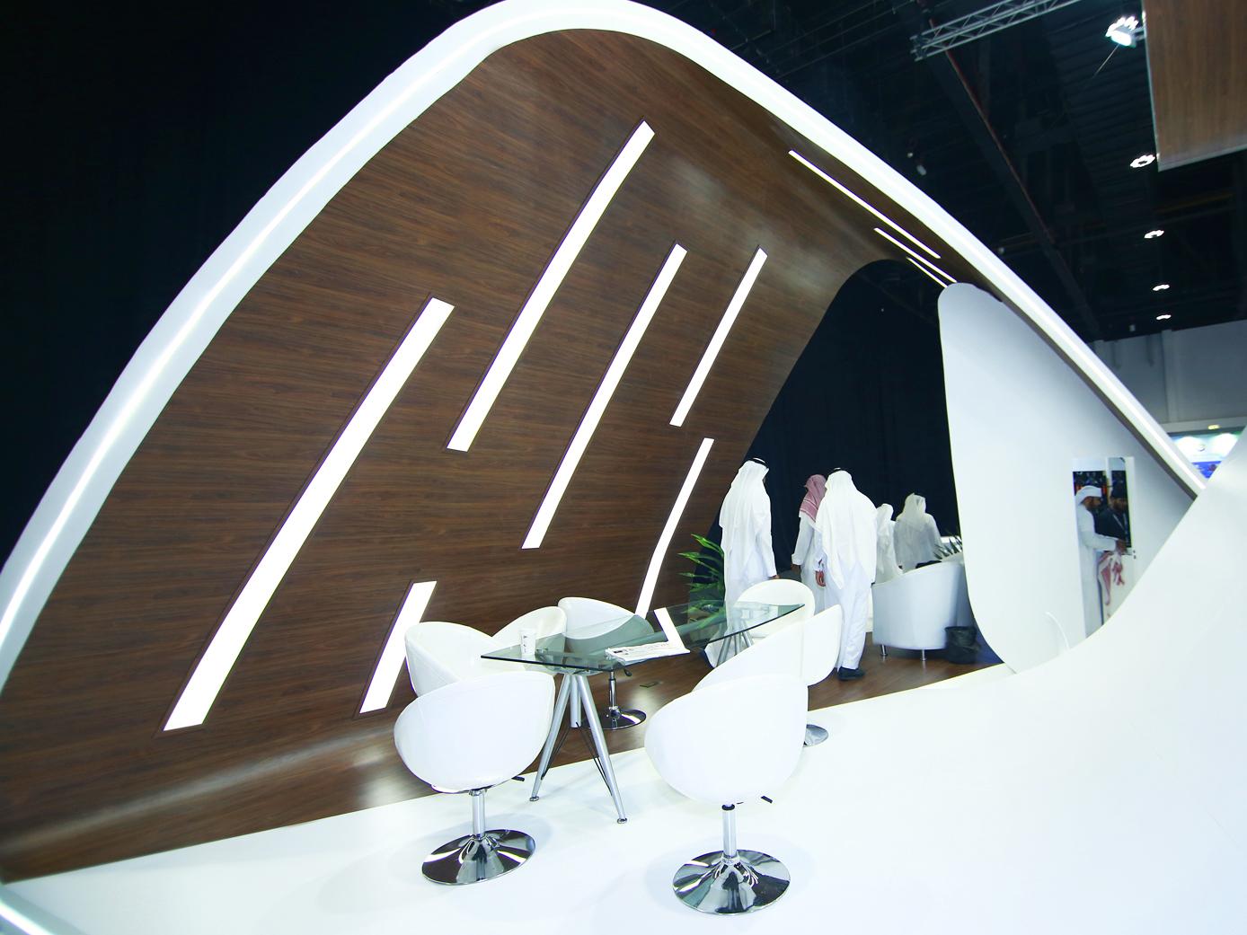 Виставковий стенд Міністерства транспорту Саудівськрї Аравії на виставці в Абу-Дабі