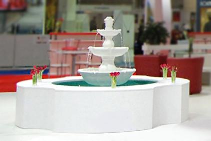 ексклюзивний виставковий стенд Турції з фонтаном