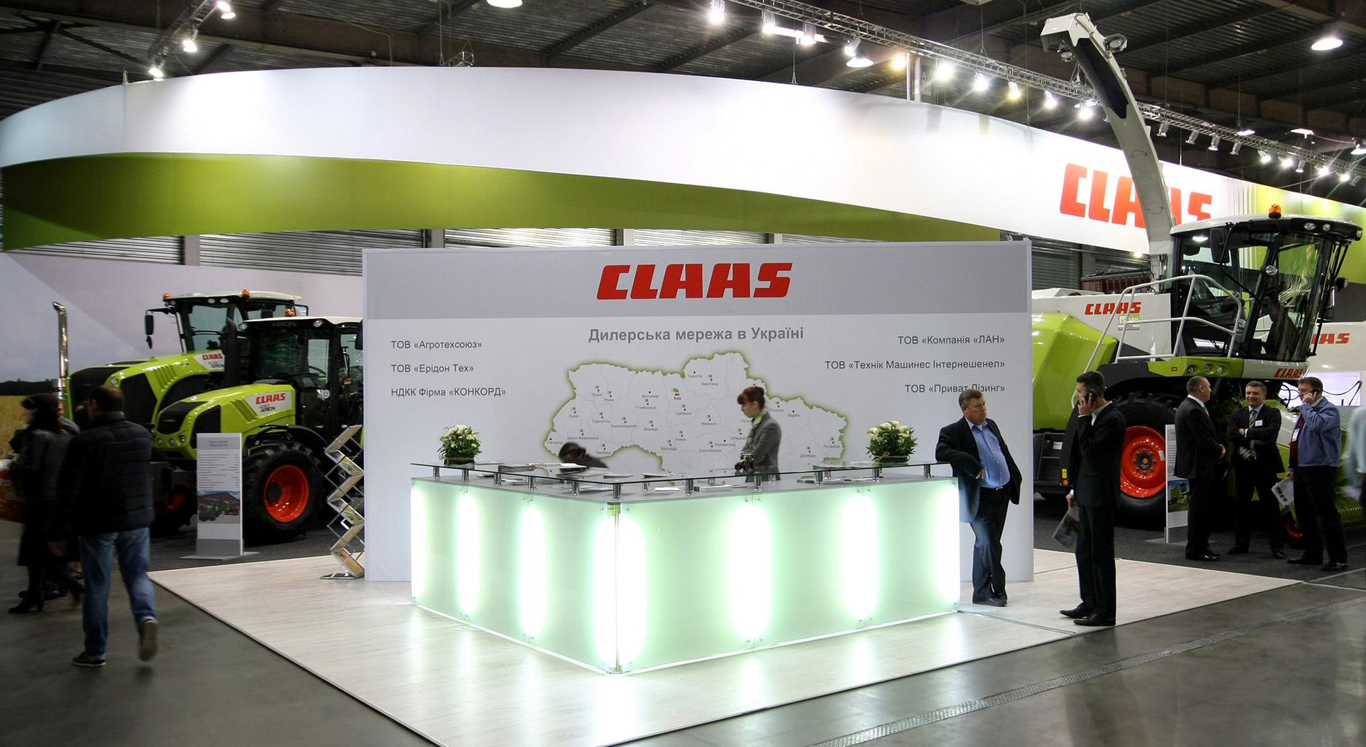 stand with luminous reception for InterAgro exhibition in Kyiv