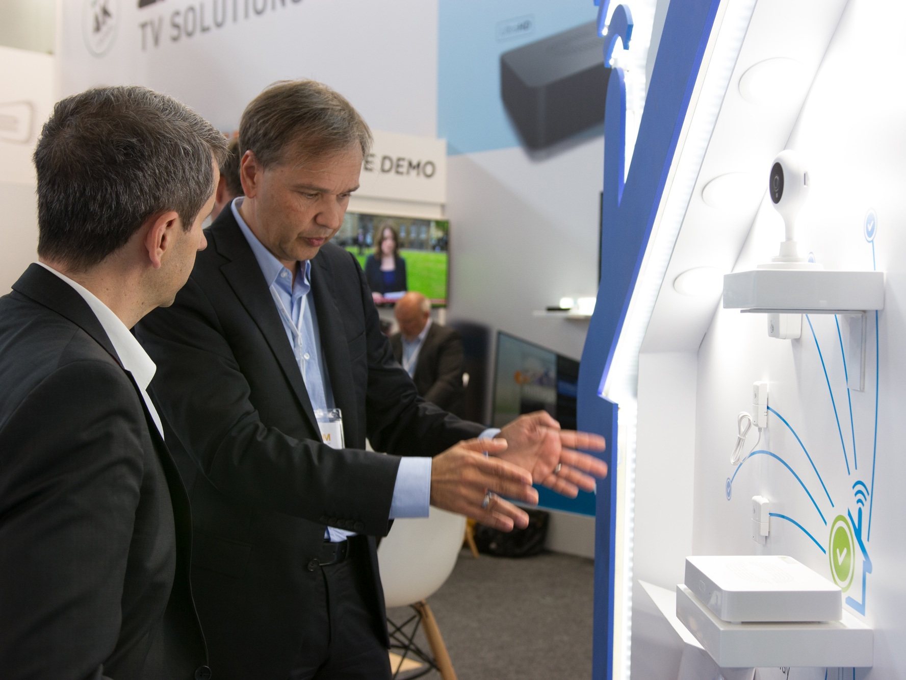 exhibition booth for Germany company at Spain trade fair