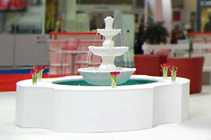custom-made exhibition stand of Turkey with fountain in Kyiv