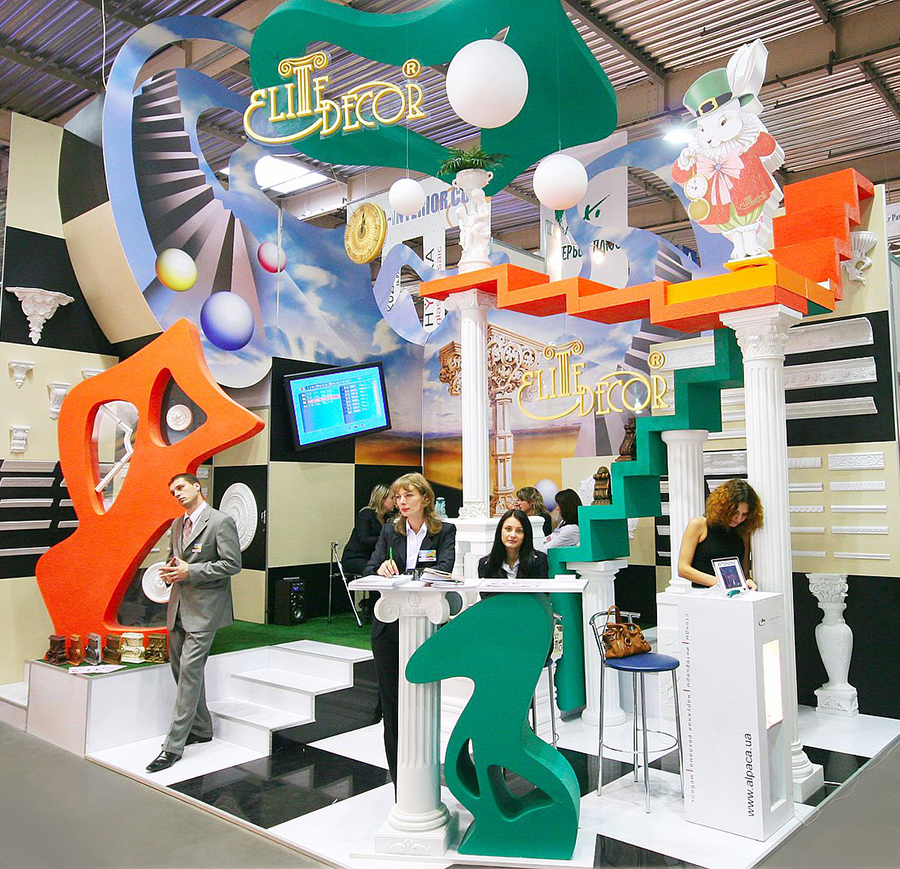 exhibition stand for design company in Ukraine at trade fair