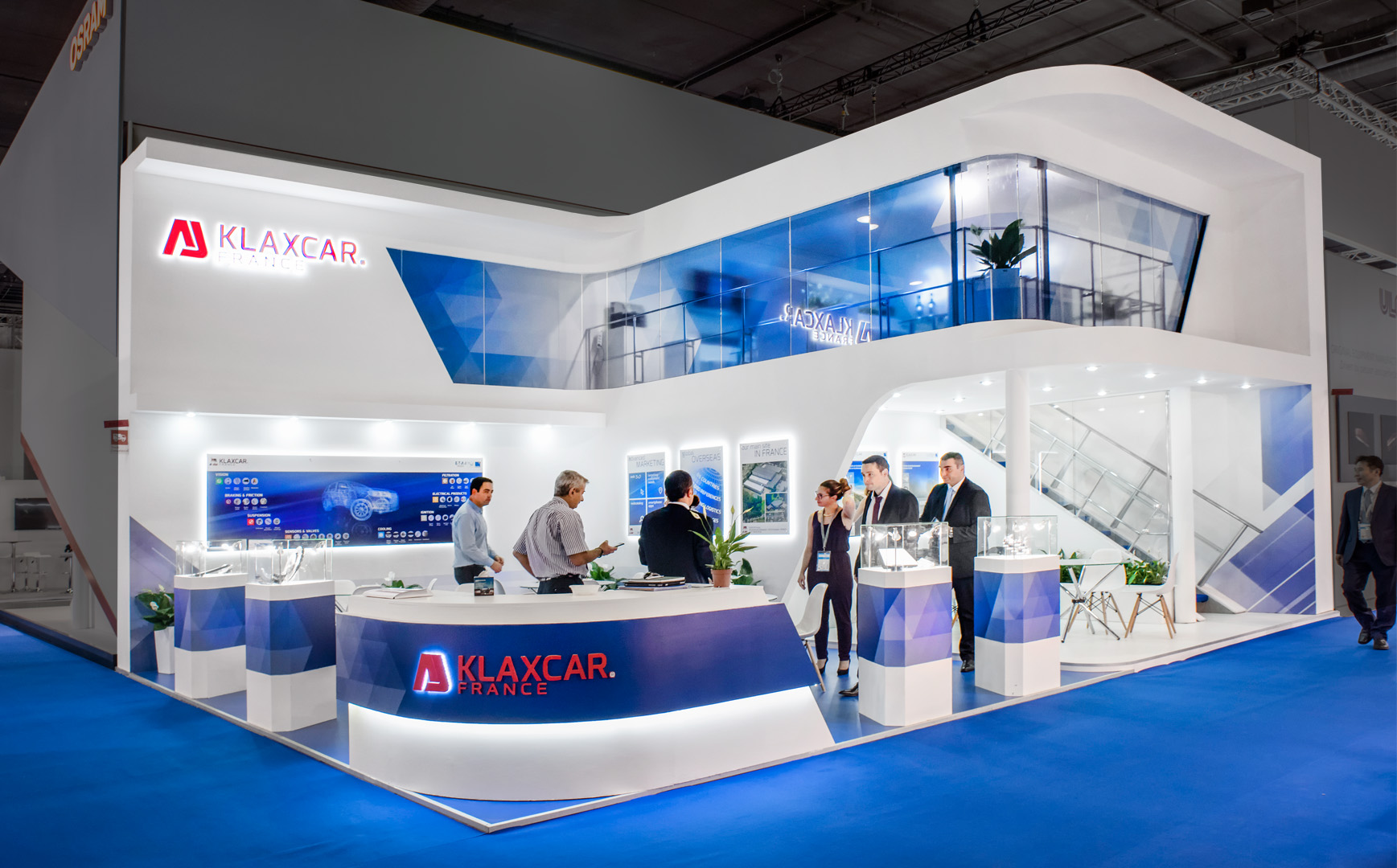 exhibition stand Klaxcar